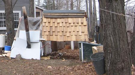 chicken coop/maple boiler